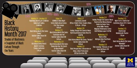 Black History Month 2017 Calendar. Info in article.