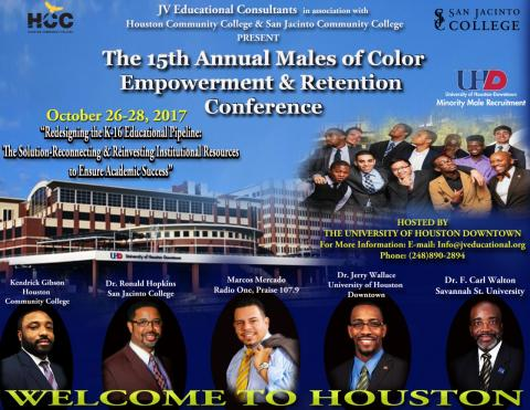 Males of Color Empowerment and Retention Conference flyer. Info in article.