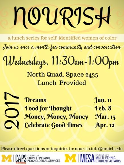 Nourish Lunch Series flyer. Info in article.