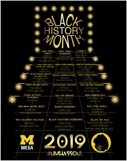 Black History Month 2019 poster