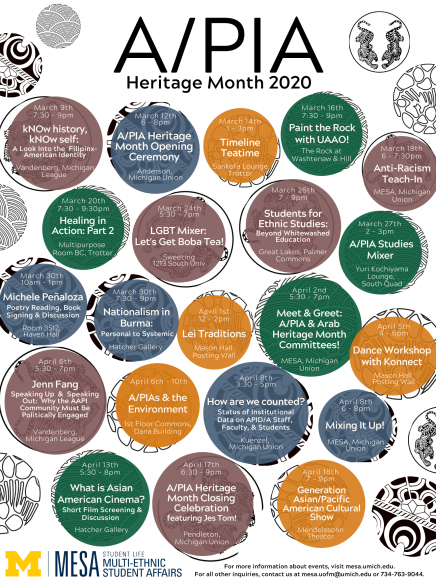 A/PIA Heritage Month Calendar