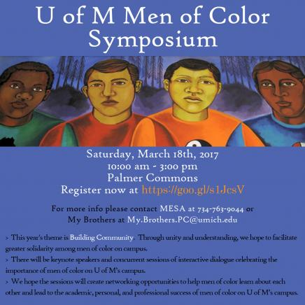 Men of Color Symposium flyer. Info in article.